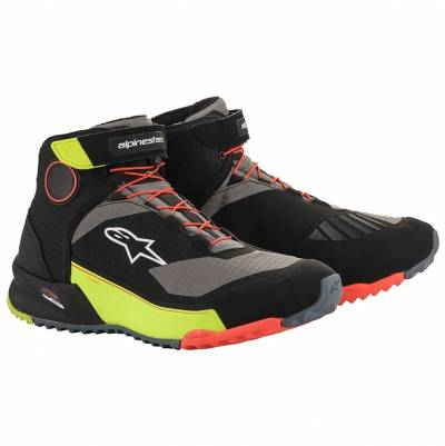 Alpinestars Schuhe CR-X Drystar, schwarz-fluogelb-fluorot