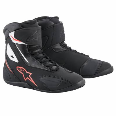 Alpinestars Schuhe Fastback-2, schwarz-weiß-fluorot