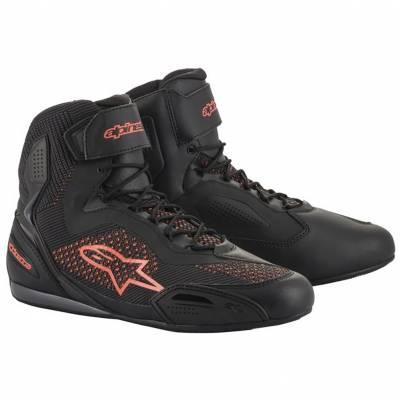 Alpinestars Schuhe Faster-3 Rideknit, schwarz-fluorot