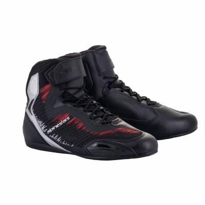 Alpinestars Schuhe Faster-3 Rideknit, schwarz-silber-hellrot