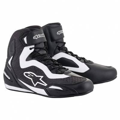 Alpinestars Schuhe Faster-3 Rideknit, schwarz-weiß