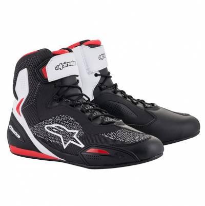 Alpinestars Schuhe Faster-3 Rideknit, schwarz-weiß-rot