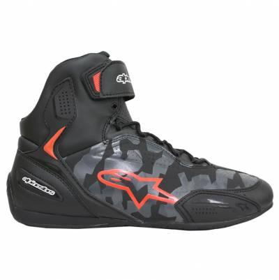 Alpinestars Schuhe Faster-3, schwarz-camograu-fluorot