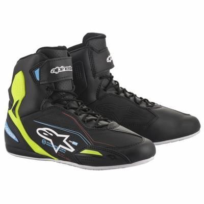 Alpinestars Schuhe Faster-3, schwarz-fluogelb-hellblau