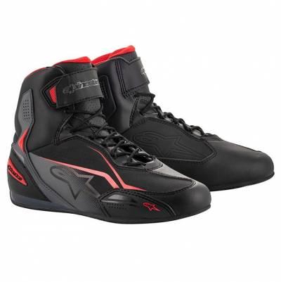 Alpinestars Schuhe Faster-3, schwarz-grau-rot