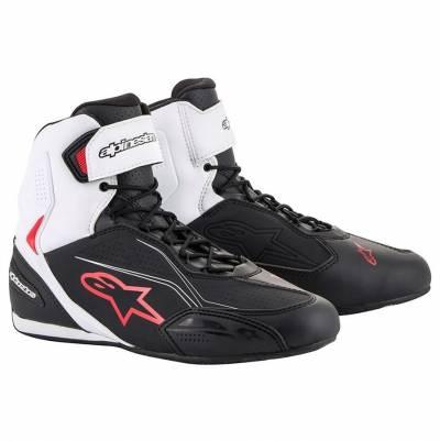 Alpinestars Schuhe Faster-3, schwarz-weiß-rot