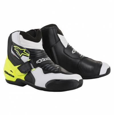 Alpinestars Schuhe SMX-1 R, schwarz-weiß-fluogelb