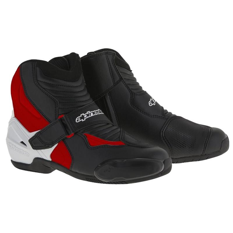 Alpinestars Stiefel SMX-1 R, schwarz-weiß-rot