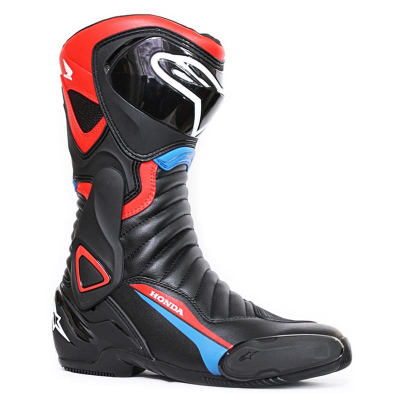 Alpinestars Stiefel Supertech R, schwarz rot fluogelb moto