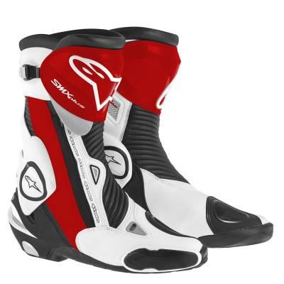 Alpinestars Stiefel SMX-Plus, schwarz-rot-weiß