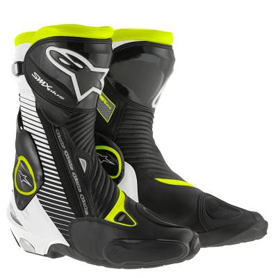 Alpinestars Stiefel SMX-Plus, schwarz-weiß-fluogelb