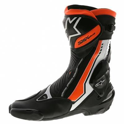 Alpinestars Stiefel SMX-Plus, schwarz-weiß-fluorot