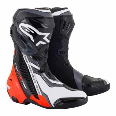 Alpinestars Stiefel Supertech R 2021 schwarz-rot-weiß-grau