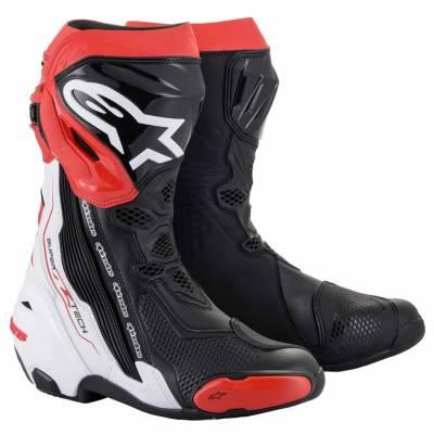 Alpinestars Stiefel Supertech R 2021 schwarz-weiß-rot