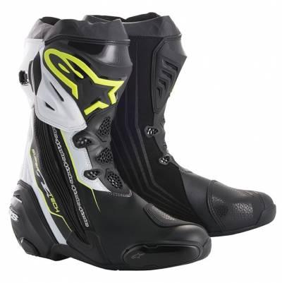 Alpinestars Stiefel Supertech-R, schwarz-fluogelb-weiß