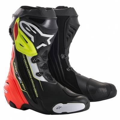 Alpinestars Stiefel Supertech-R, schwarz-rot-fluogelb