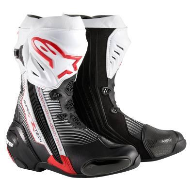 Alpinestars Stiefel Supertech-R, schwarz-weiß-rot