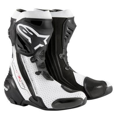 Alpinestars Stiefel Supertech-R Vented, schwarz-weiß