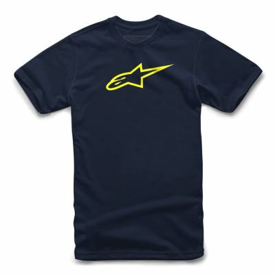 Alpinestars T-Shirt Ageless, blau-fluogelb