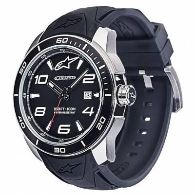 Alpinestars Uhr Tech Watch 3H, Alpinestars, schwarz-silber, Silikon-Band