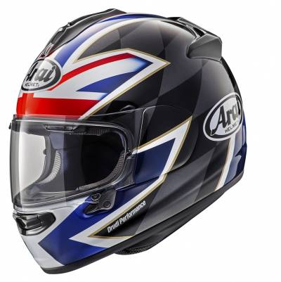 Arai Chaser-X League UK, schwarz-silber UK Flagge