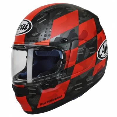 Arai Helm Profile-V Patch Red, rot-schwarz-grau matt
