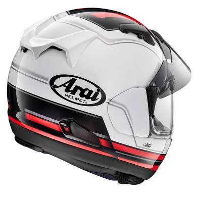 Arai Helm QV-Pro Stint Red, weiß-schwarz-rot