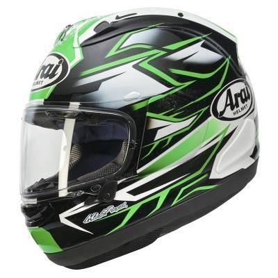 Arai Helm RX7-V Ghost Green, schwarz-grün-weiß