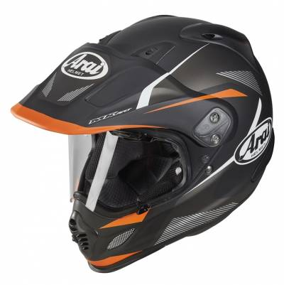 Arai Helm Tour-X4 Break Orange 2018, schwarz-weiß-orange matt
