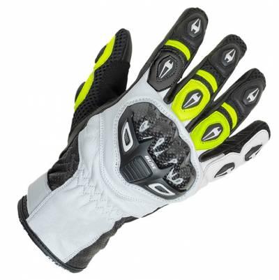 Büse Airway Handschuhe, weiß-gelb