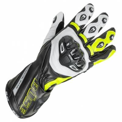 Büse Handschuhe Donington Pro, schwarz-weiß-fluogelb