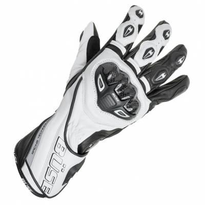 Büse Handschuhe Donington Pro, weiß-schwarz