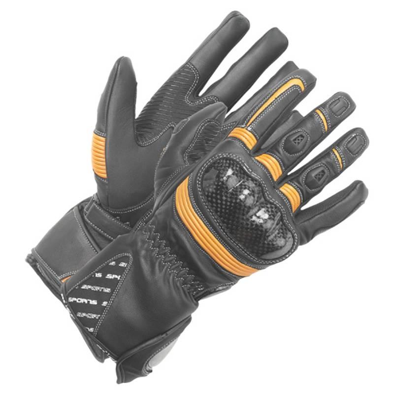 Büse Handschuhe Misano, schwarz-orange