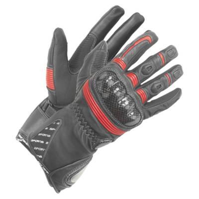 Büse Handschuhe Misano, schwarz-rot