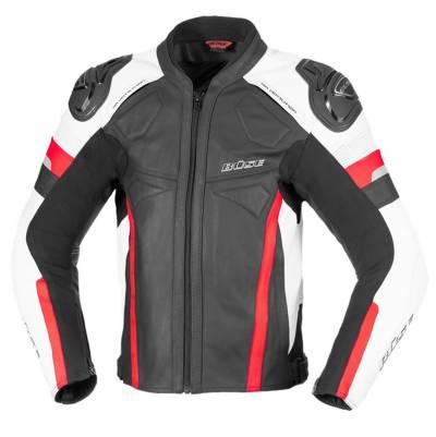 Büse Jacke Monza, schwarz-weiß-rot