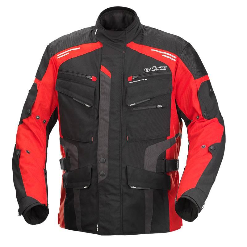 Büse Jacke Torino Evo, schwarz-rot