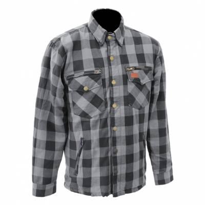 Büse M11 Textiljacke Karo-Cotton, grau