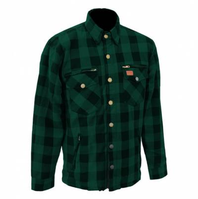 Büse M11 Textiljacke Karo-Cotton, grün