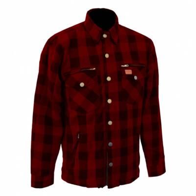 Büse M11 Textiljacke Karo-Cotton, rot