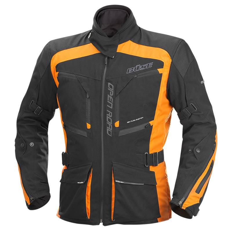 Büse Open Road Evo Textiljacke, schwarz/orange