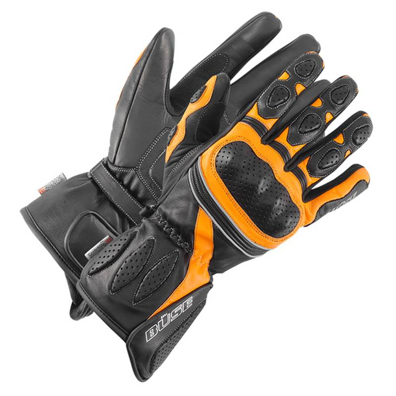 Büse Pit Lane Handschuhe, schwarz-orange