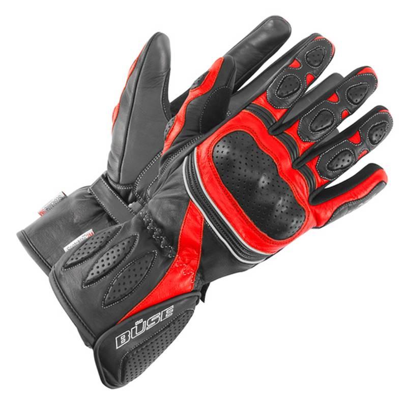 Büse Pit Lane Handschuhe, schwarz-rot
