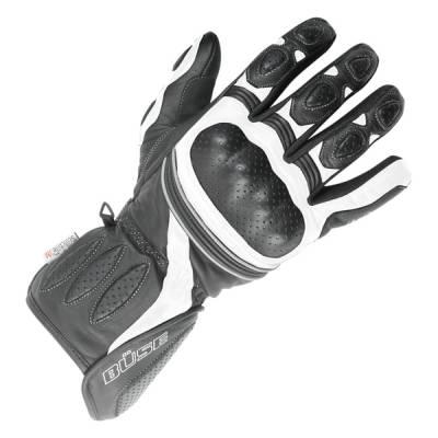 Büse Pit Lane Handschuhe, schwarz-weiß