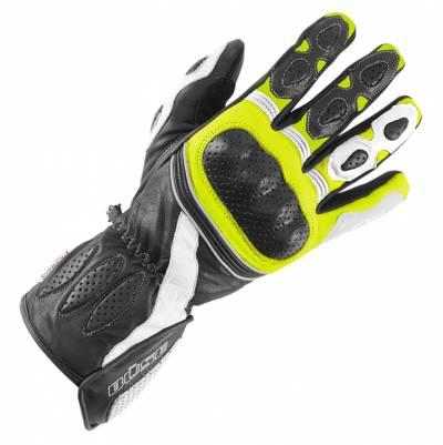 Büse Pit Lane Handschuhe, schwarz-weiß-fluogelb