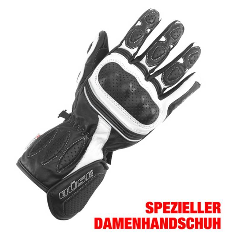 Büse Pit Lane Lady Handschuhe, schwarz-weiß