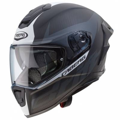 Caberg Helm Drift Evo Carbon, anthrazit-weiß-matt
