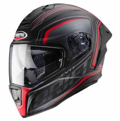 Caberg Helm Drift Evo Integra, schwarz-grau-rot-matt