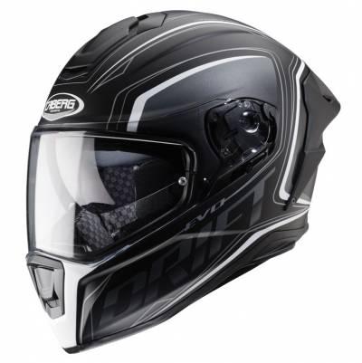 Caberg Helm Drift Evo Integra, schwarz-grau-weiß-matt
