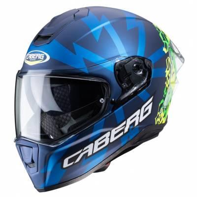 Caberg Helm Drift Evo Storm, blau-gelb-grün-matt