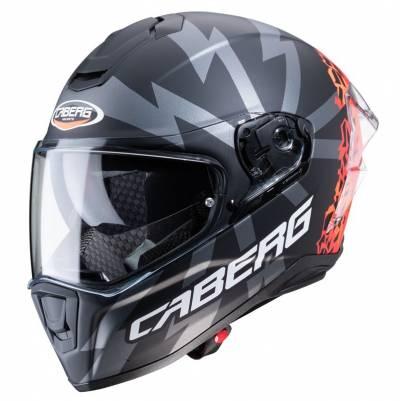 Caberg Helm Drift Evo Storm, schwarz-grau-rot-matt